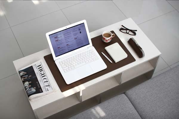 desk mat table white