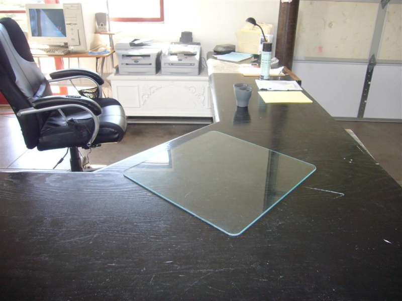 glass desk mat