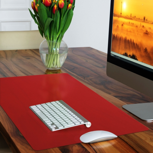 red desk pad
