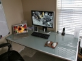 Frosted Glass Desk