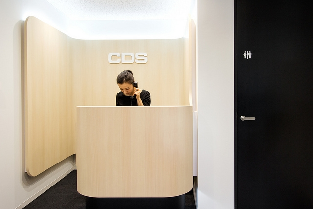 one person reception desk
