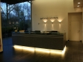 lit reception desk