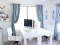 home office white swivel chair