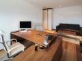 white chair wooden desk