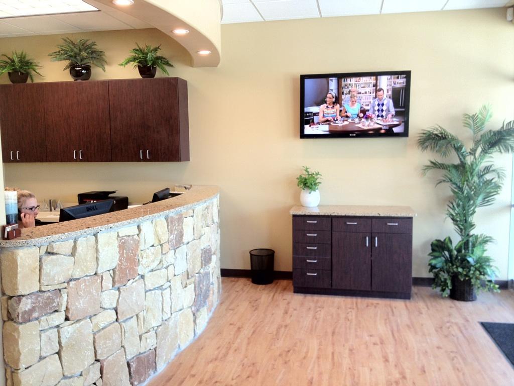 Dental Office Brick Reception