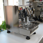 silver coffee machine