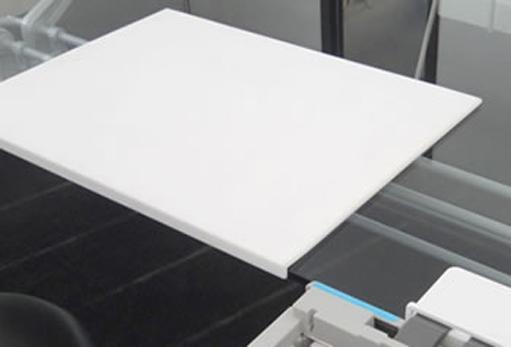 white attached desk pad